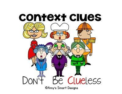 Dont Be Clueless Context Clues PowerPoint Lesson from Amy's SMART Designs on TeachersNotebook.com -  (23 pages)  - Teach the six types of context clues with this PowerPoint lesson featuring the Clue characters.