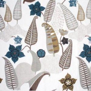 Spira Stensota Petrol Scandinavian Fabric, £25 per m...  maybe one day.