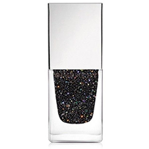 Givenchy Le Vernis Glittery Black Top Coat/0.3 Oz. found on Polyvore featuring beauty products, nail care, nail polish, beauty, black, makeup, nails, givenchy nail polish, givenchy and shiny nail polish
