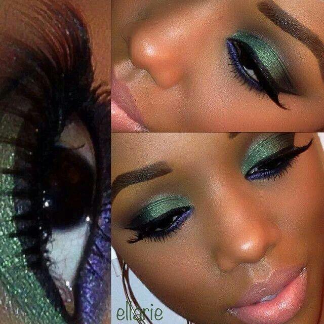 Si eres morena los colores verdes y morados nos van muy bien