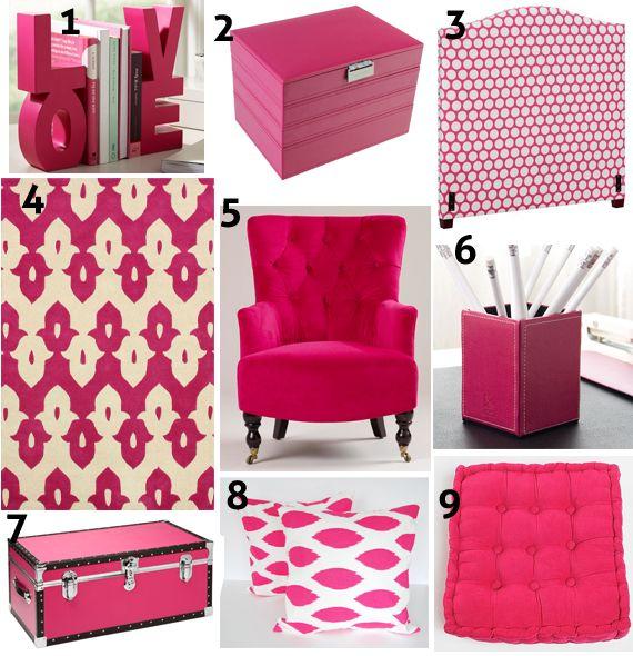 Color Focus: Hot Pink Decor