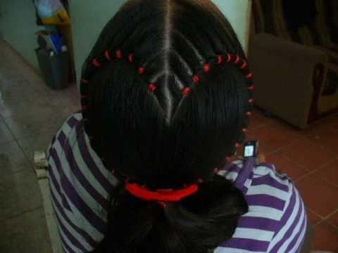 peinado de corazón Peinados Niñas Pinterest Peinados niños - peinados de nia faciles de hacer