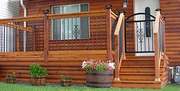installationgate cour arri re pinterest rampes galerie et en bois. Black Bedroom Furniture Sets. Home Design Ideas