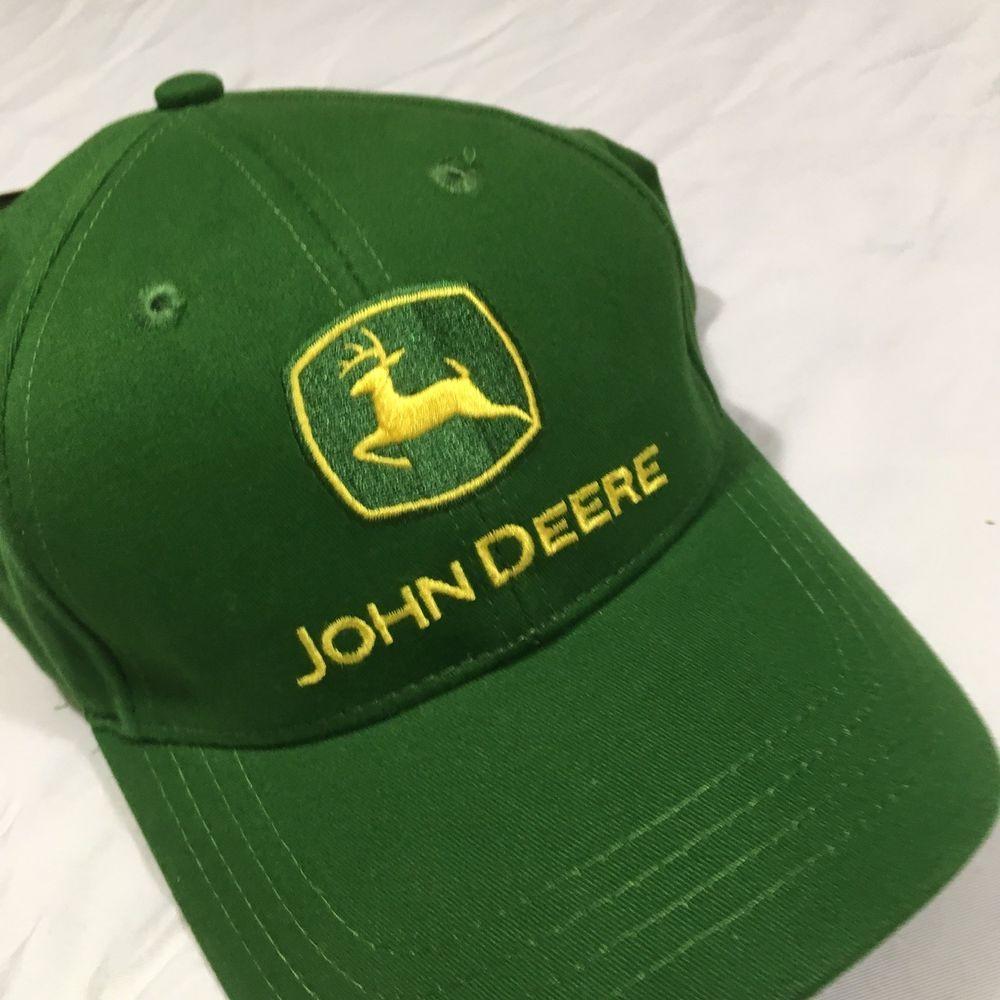 Vintage NWT JOHN DEERE Trucker Hat Cap Green Adjustable  fashion  clothing   shoes  accessories  mensaccessories  hats (ebay link) ea74fc51e1a