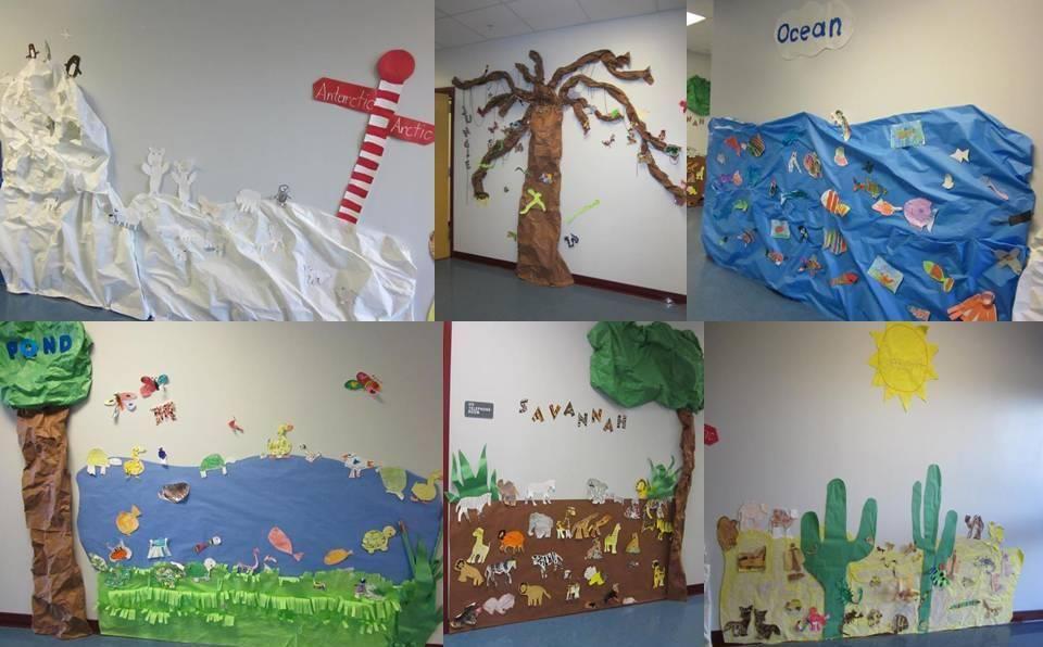 Classroom Research Ideas ~ Habitats bulletin board ideas classroom decorating