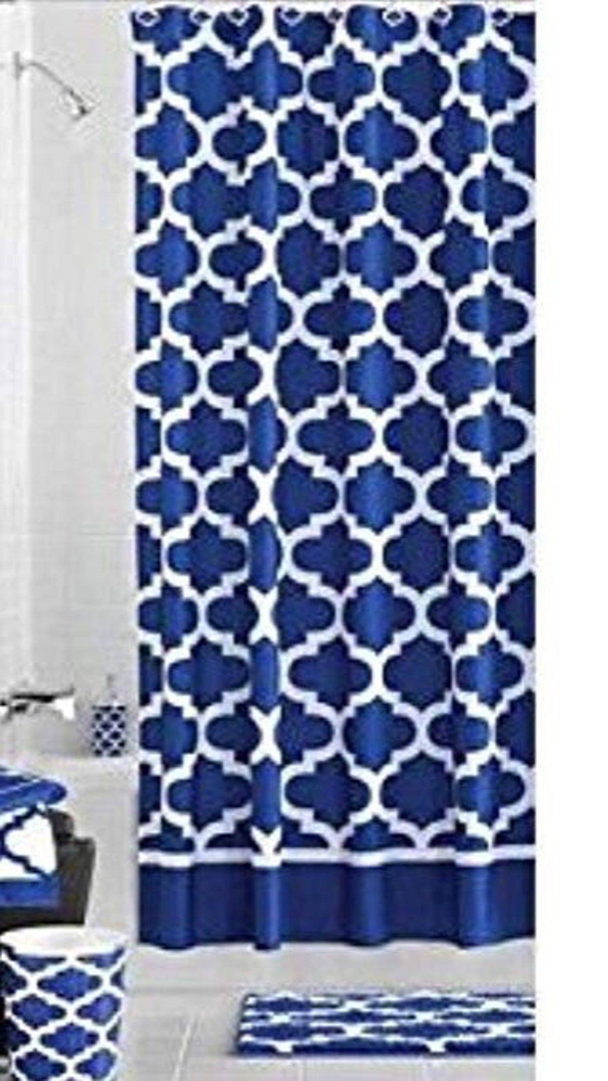 blue shower curtains