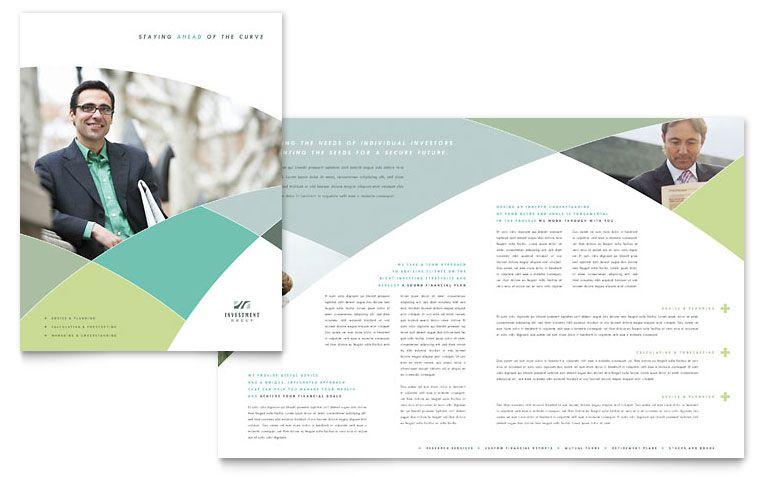 Financial Advisor Brochure Template Design Print Collateral - brochures templates word