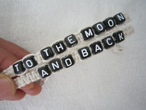 Couples Bracelets Set His And Hers To The Moon And Back By