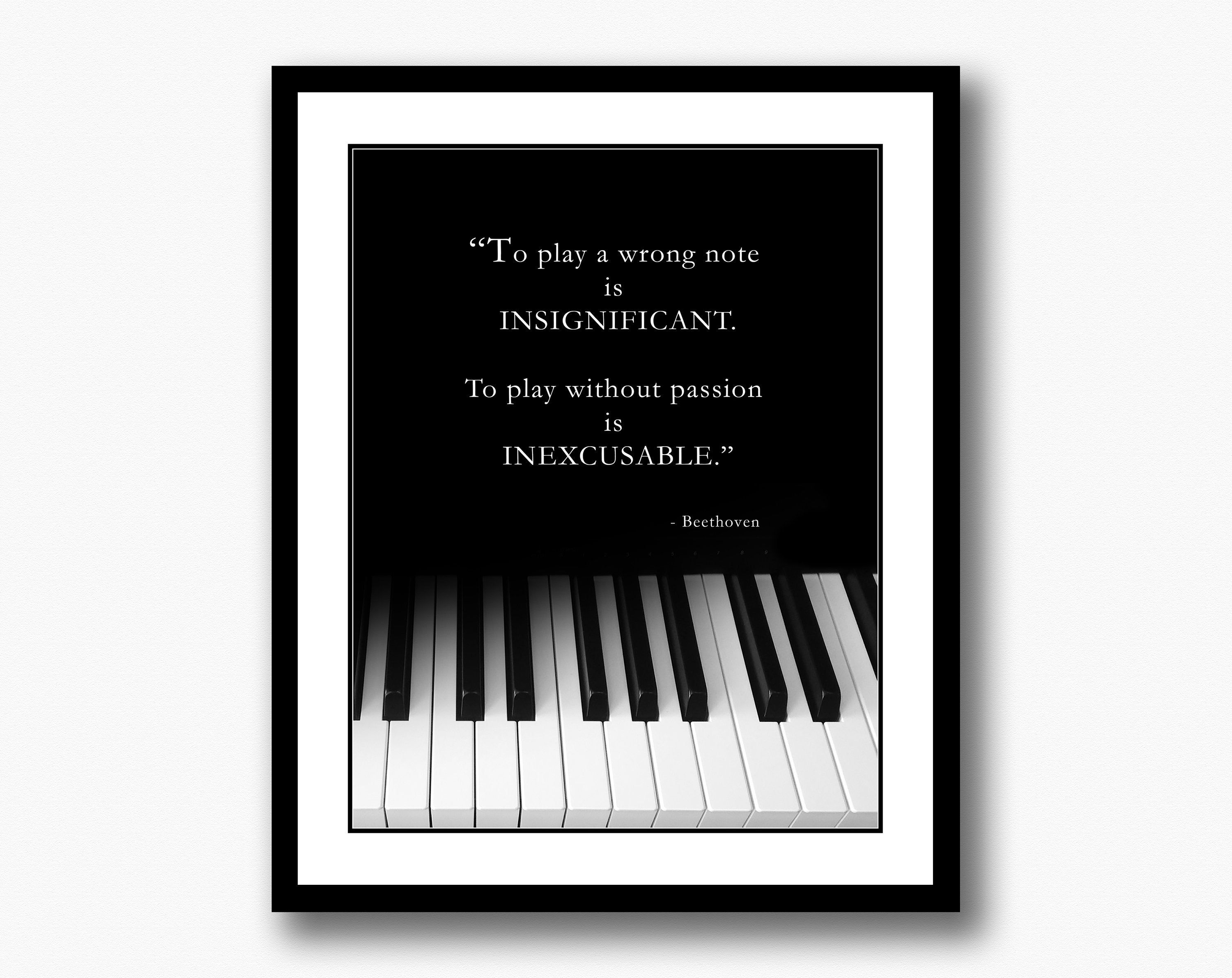 Beethoven music quote piano keyboard photo pianist etsy