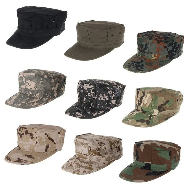 da344a77fa2 LumiParty Camouflage Tactical Hat Fishing Cap Women Man Outdoor Sports  Tactical Uniform Cap Flat Sun Hat