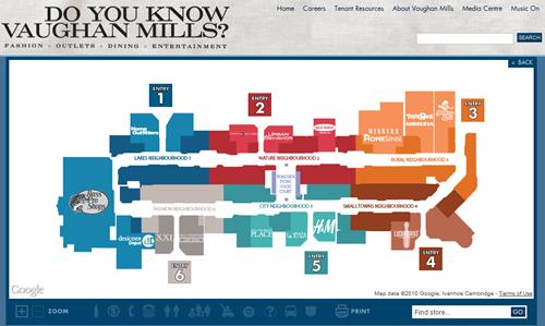 Vaughan Mills Map directory map design   Google Search | Retail Store Map | Map  Vaughan Mills Map