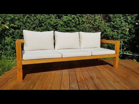 Diy Modern Outdoor Sofa Gartenbank Selber Bauen Youtube Modern Outdoor Sofas Outdoor Sofa Modern Outdoor