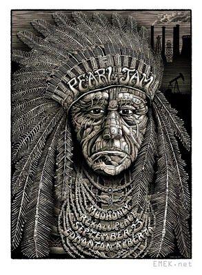 Second Poster To Frameemek Pearl Jam Edmonton Poster Pearl Jam