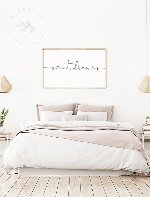 Sweet Dreams Printable Calligraphy Art Print Sweet Dreams Magnificent Contemporary Bedroom Wall Art