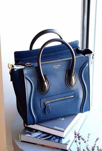 62e4c1118767 Celine Luggage Mini Handbag Navy Mini Handbags