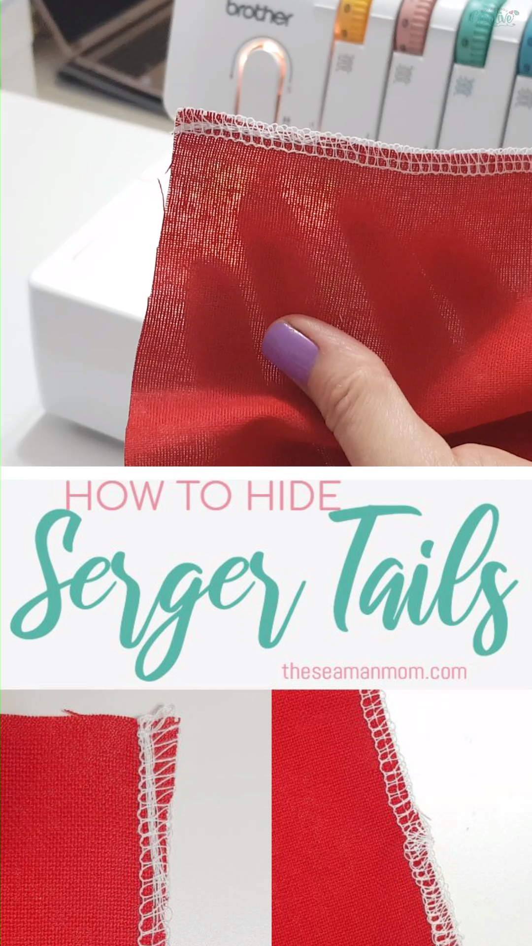 HOW TO HIDE SERGER TAILS START & END