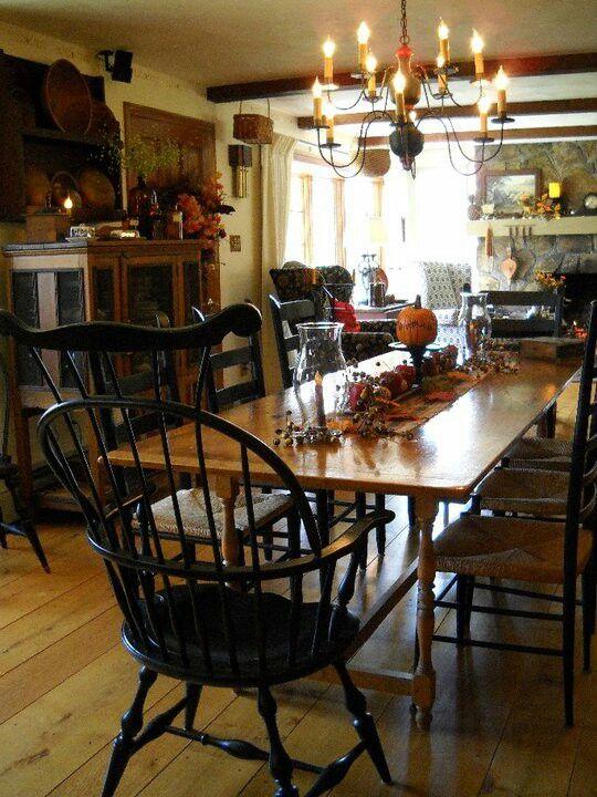 primitive dining room sets   ..love the chairs   !!!!Primitive!!!! in 2019   Primitive ...