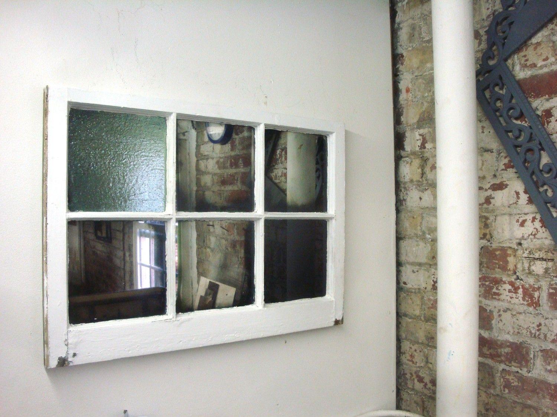 Barn window decor  window into mirror u love the brick wall  time to create