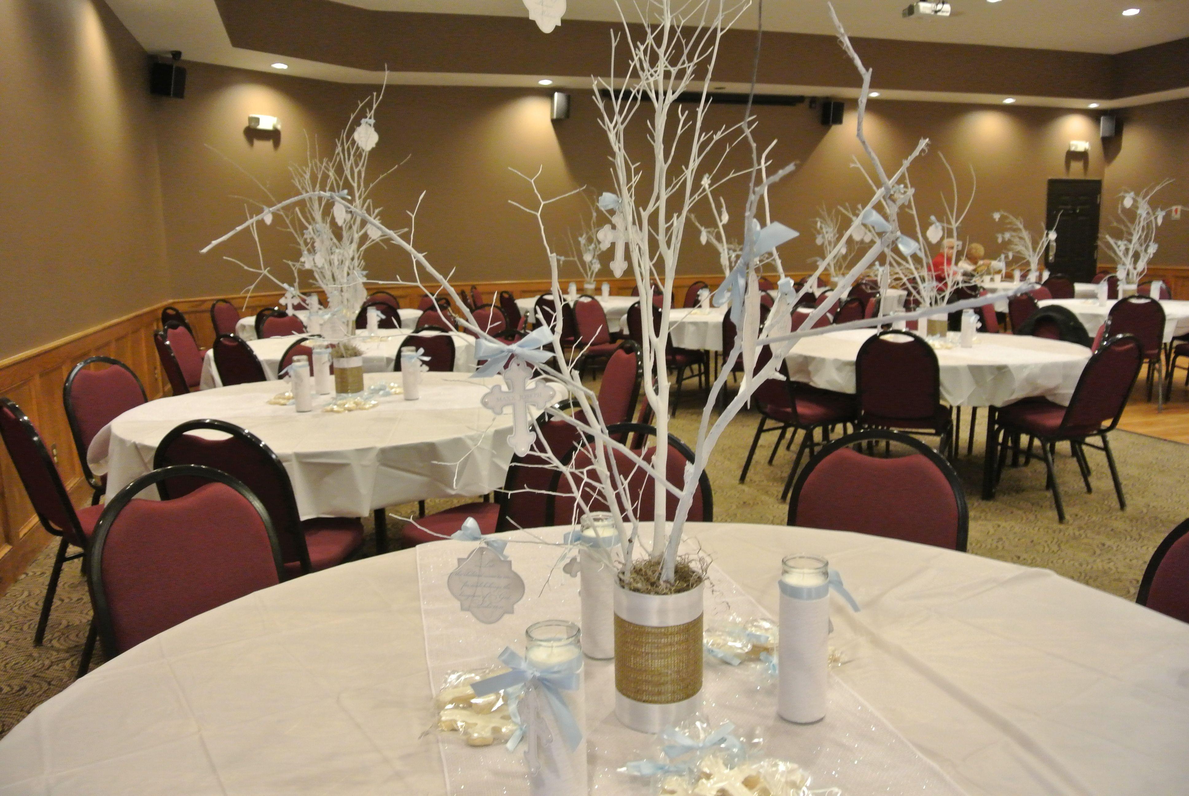 Baptism centerpieces for girls christening centerpieces for Kitchen table centrepieces