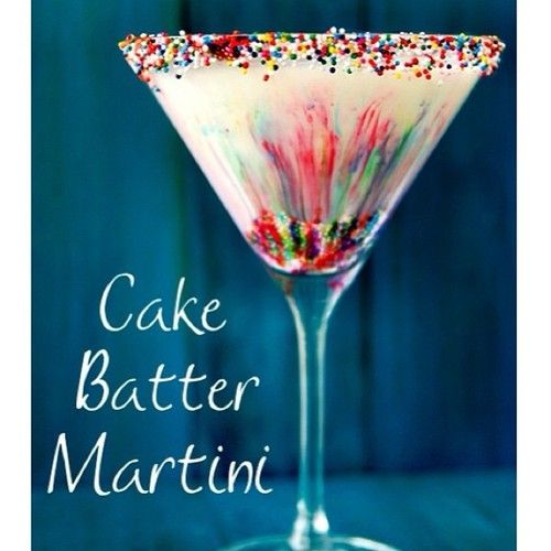 Cake Batter Martini 1 12oz Cake Vodka 1 12oz White Creme de Cacao