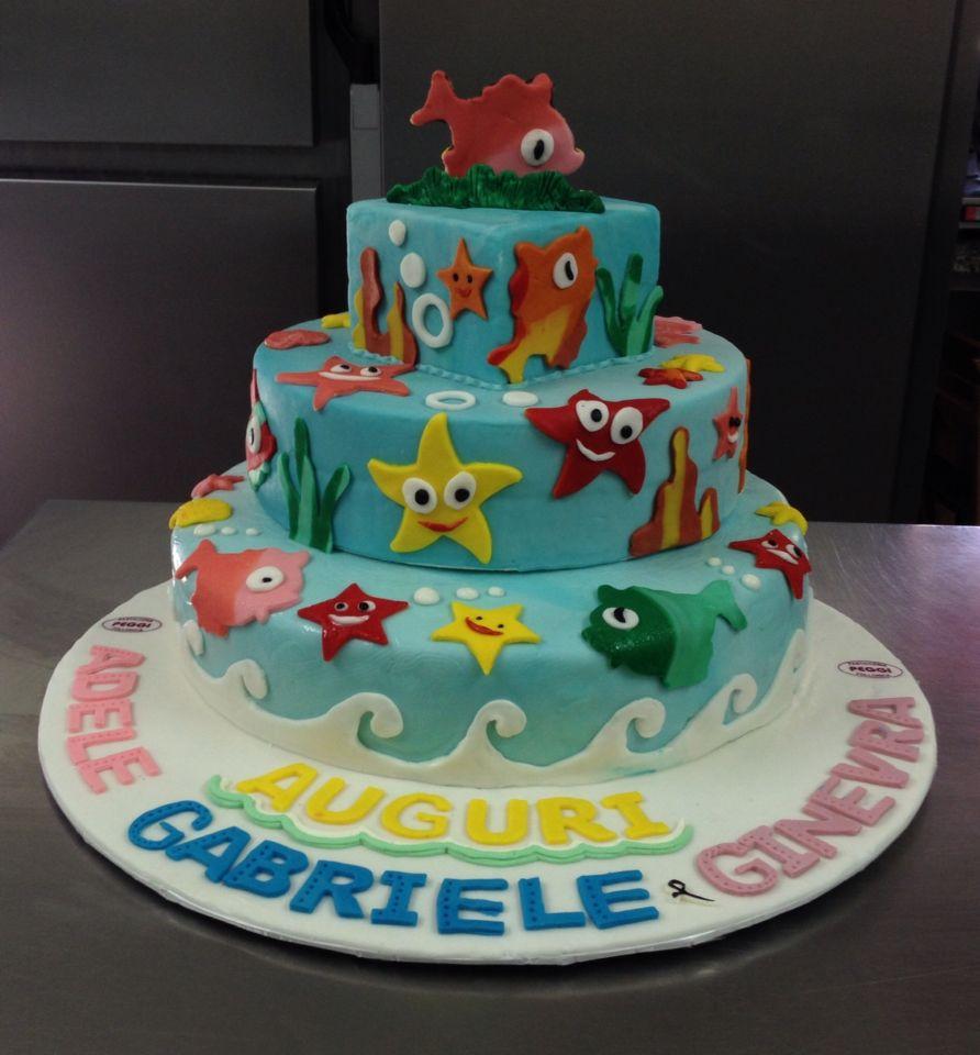 Torta compleanno padta di zucchero tema mare torte for Decorazioni torte tema mare