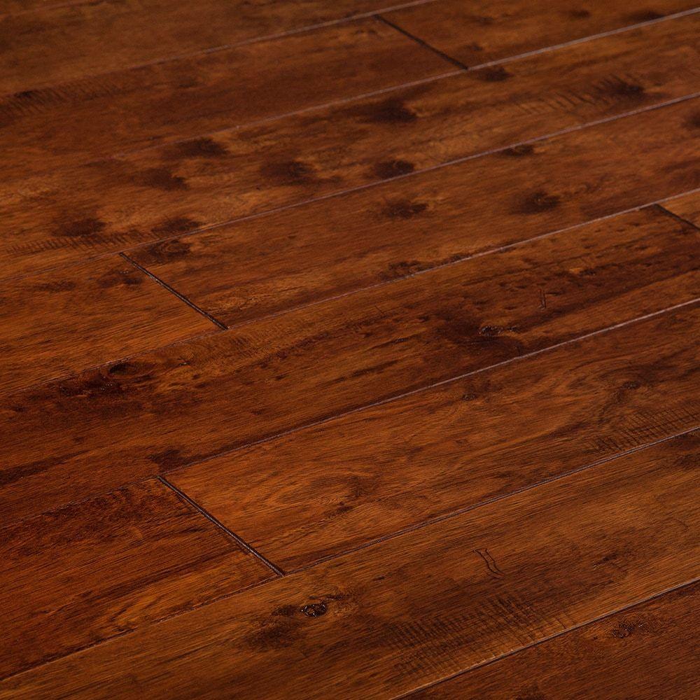 Longbow Collection Coconut Brown Elm Handscraped Builders Grade 5 Engineered Hardwood Flooring Hardwood Floors Engineered Hardwood