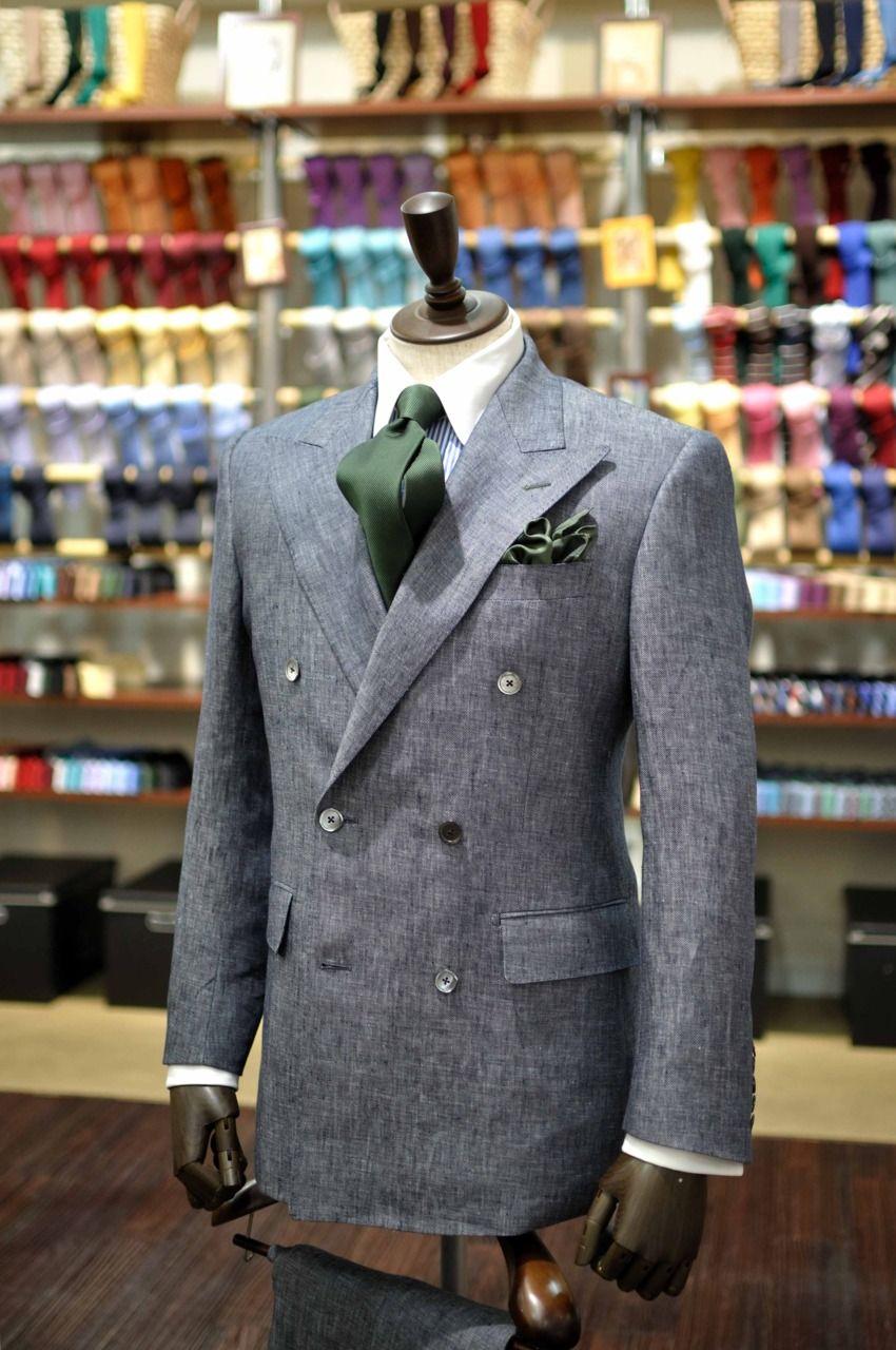 Green Ps Green Tie Grey Blazer Idea Daily Pocket Square Ideas