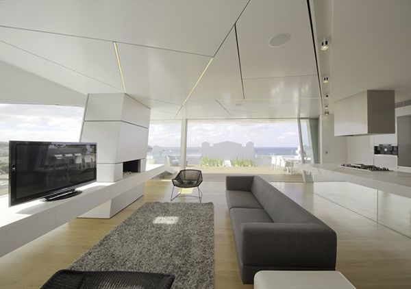 Futuristic penthouse tops art deco building at bondi beach