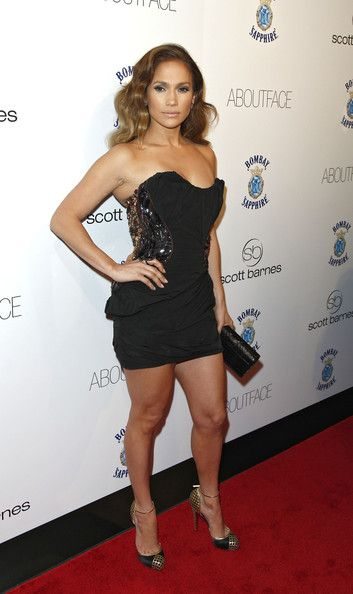 Jennifer Lopez Fashion Style Attends Scott Barnes About Face Book Launch Party At