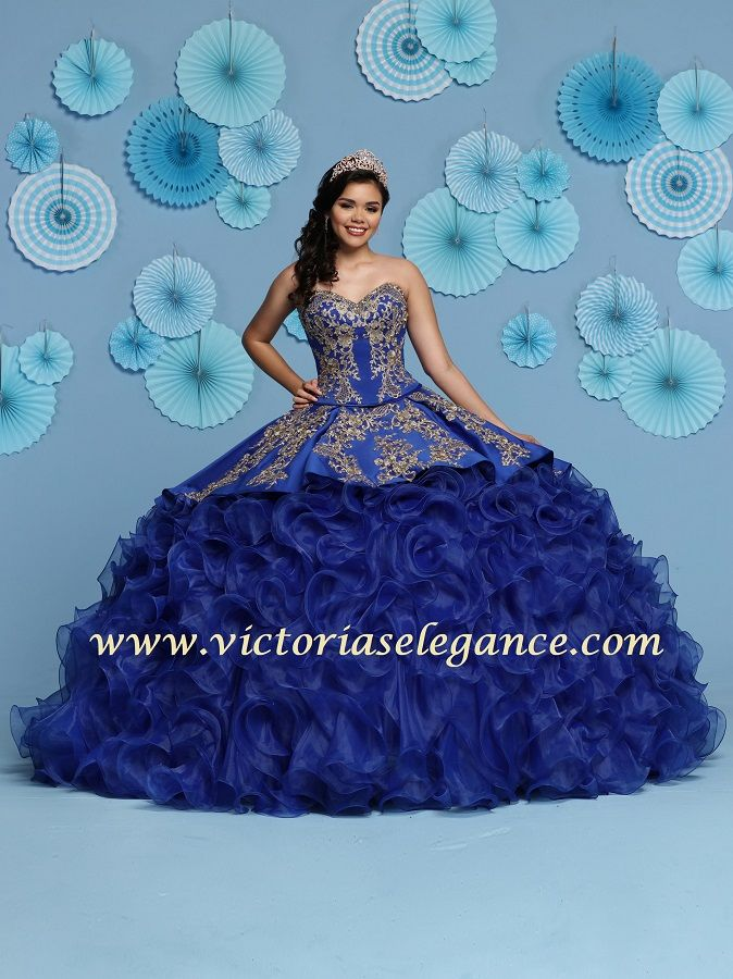 63abc12dfb2 Da Vinci Quinceañera dress style 80431 is made for a young lady who want to  look like a beautiful Princess on her special day with its lovely design.