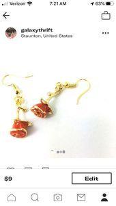 Puns and Roses Dangle Earrings Puns and Roses Dangle Earrings