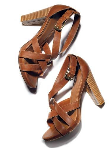 These wooden stacked heels are so versatile!