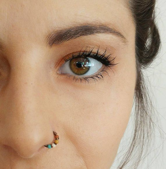 Thin Small Nose Ring Hoop Tight Nose Ring Boho Nose Ring | Etsy #nosering