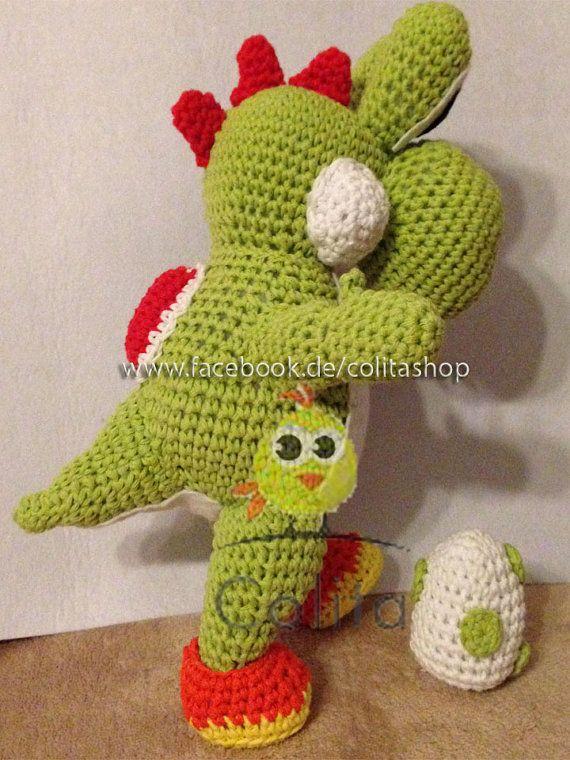 Yoshi Gehäkelt Crochet Pattern Amigurumi Deutsch Von Colitawen