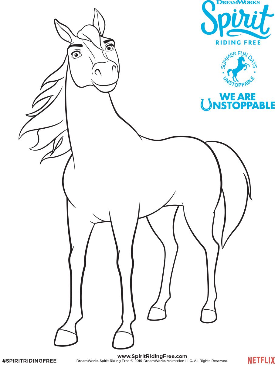 Spirit Coloring Page Spirit Riding Free Horse Coloring Pages Horse Coloring Spirit The Horse
