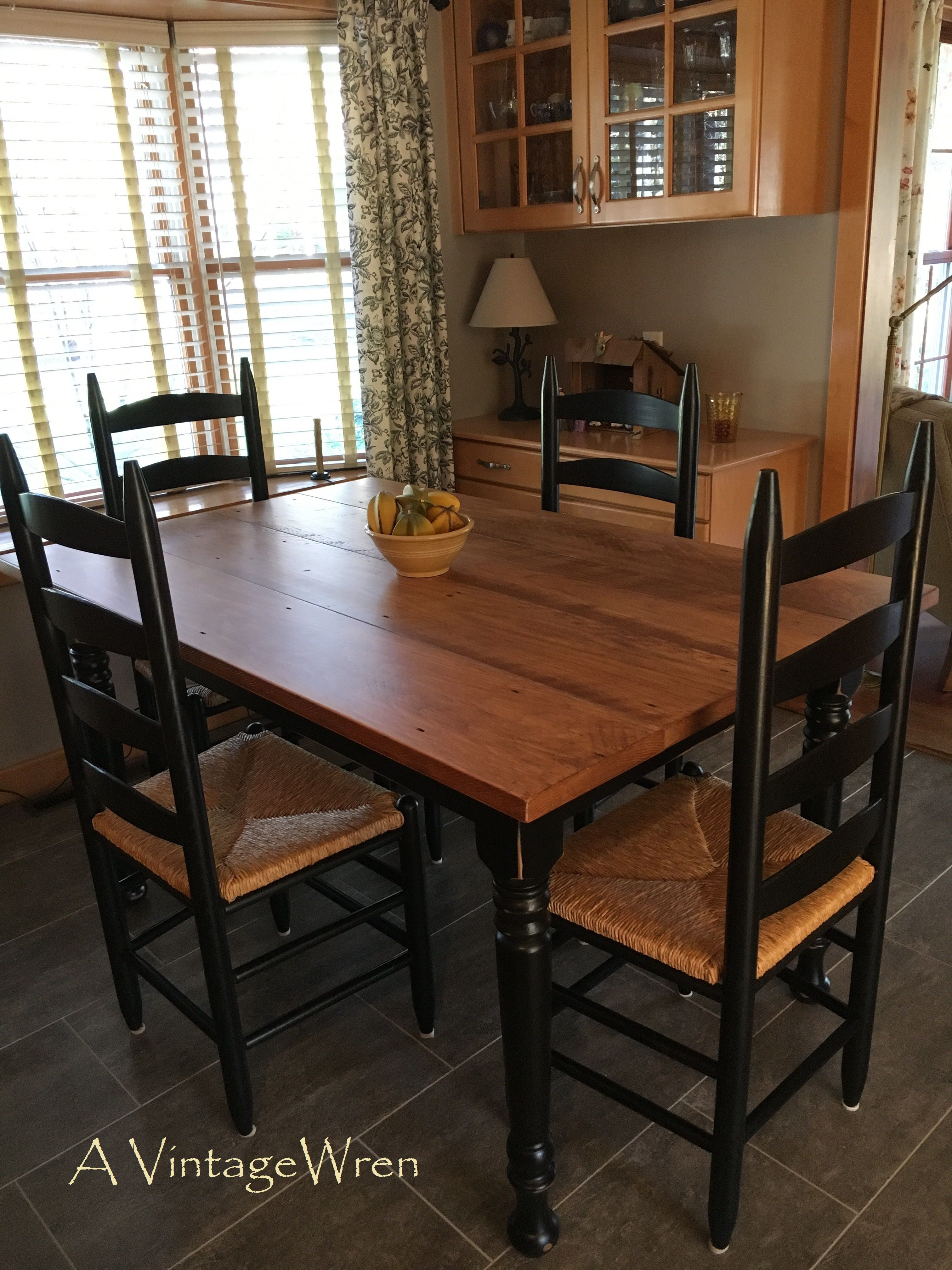 """A Custom Made 56"""" Long Farm Table From Our Rustic Simplicity Inspiration Custom Made Dining Room Tables Design Decoration"""