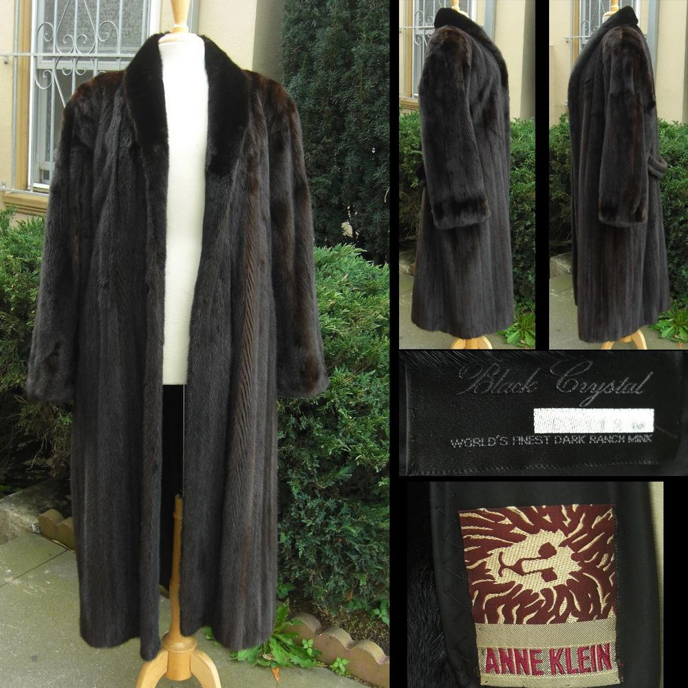 Anne Klein Mink - Dark Brown -  Ranch Mink Fur Coat - Dark Crystal #AnneKlein #Mink #MinkCoat #FurCoat
