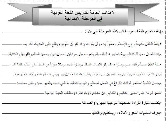 حمل برابط واحد أهداف التعليم الإبتدائي والأهداف العامة لتدريس اللغة العربية وأهداف اللغة العربية للصف السادس الإبتدائي Blog Literacy Blog Posts