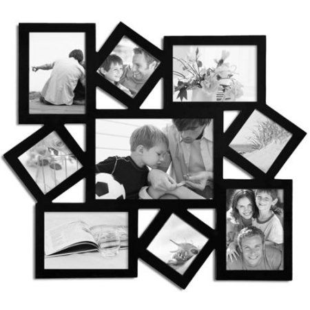 64490e9aab3 Adeco Decorative Black Wood Wall Hanging Collage Photo Frame with 9 Openings