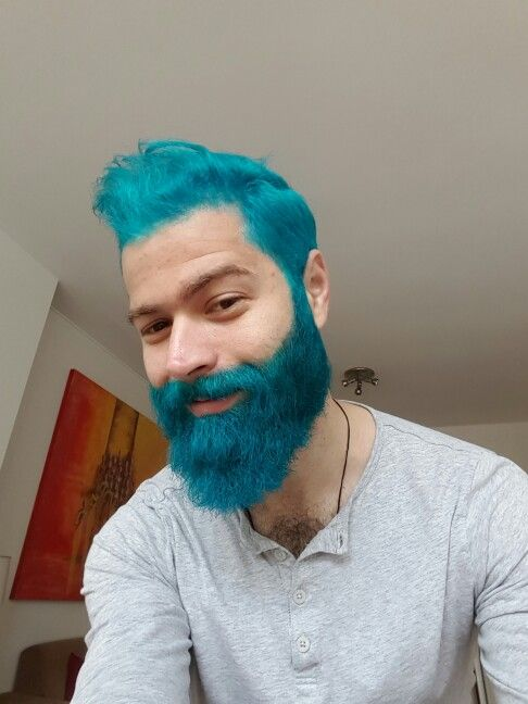 Dyed blue turquoise beard | Hair Ideas | Pinterest | Hair coloring ...