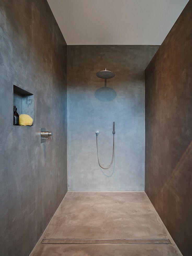 Eine Dusche ohne Fliesen dusche fliesen Fugenloses bad