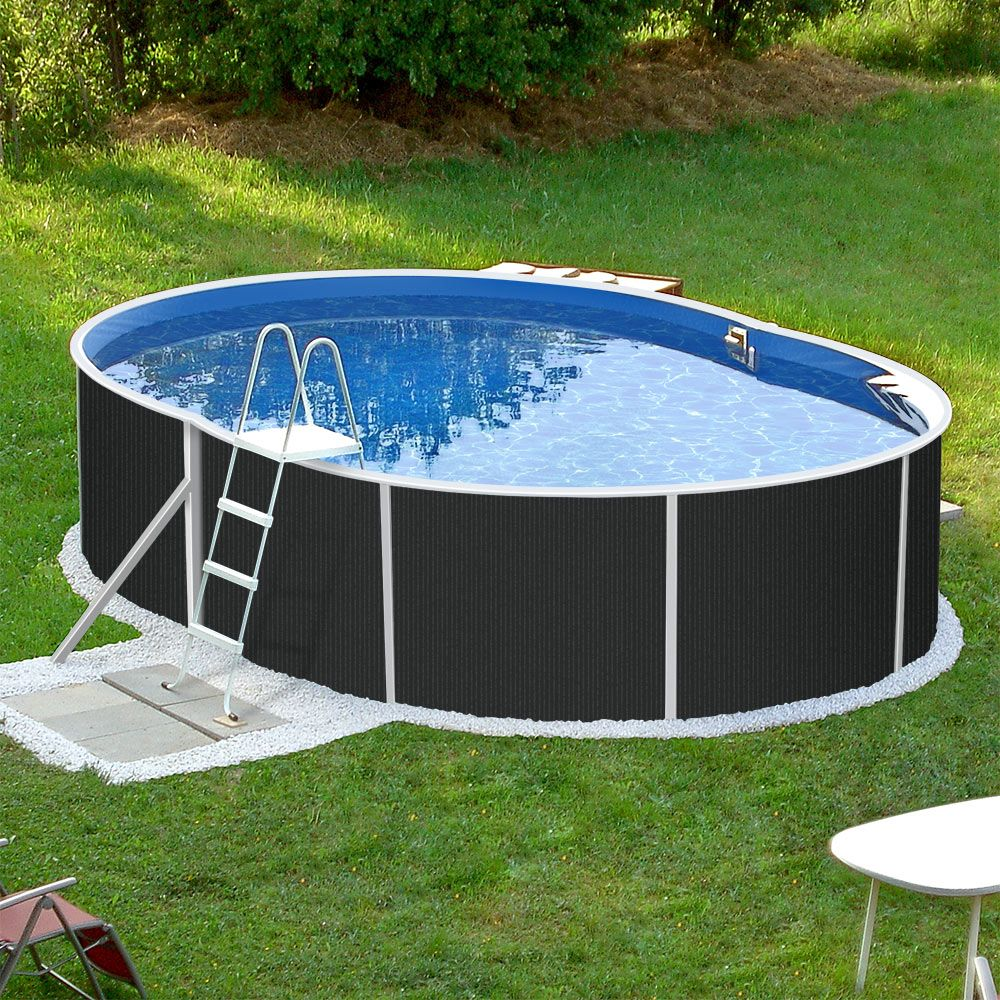 Aufstell Ovalpools Mit Dekor Ovaler Pool Coole Pools Pool