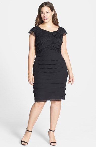 London Times Rosette Detail Shutter Pleat Dress Plus Size Available At Nordstrom Plus Size Dresses London Times Dress Dresses