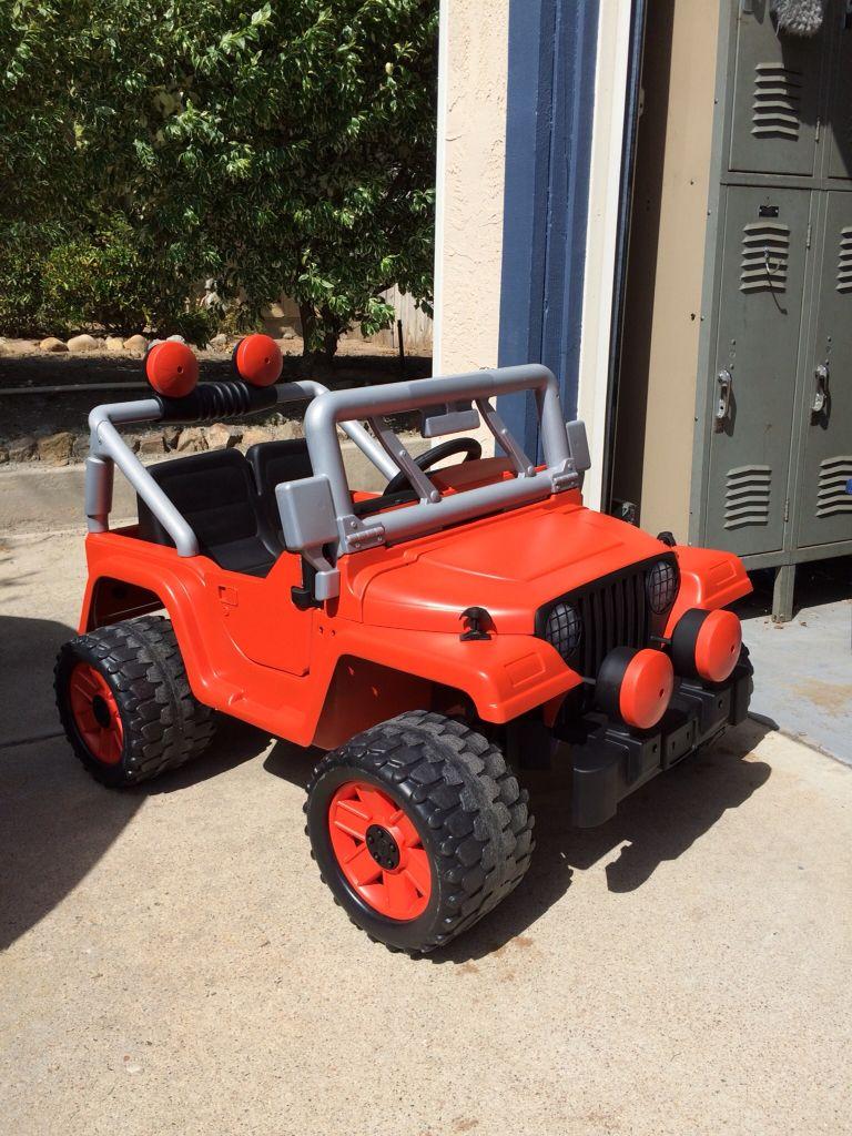 Power Wheels Jeep Wrangler Custom Paint Google Search Kids
