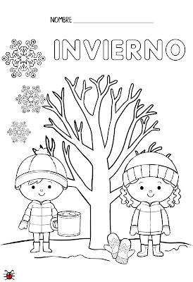 Actividades Para Educacion Infantil Fichas Para Colorear Las Estacione Actividades De Invierno Para Ninos Actividades De Clima Actividades De Otono Para Ninos