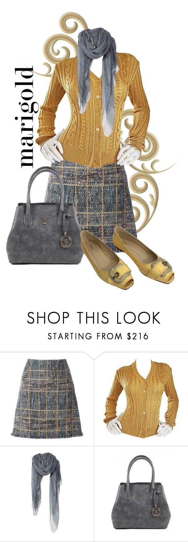 """""""Marigold"""" by theserialnester ❤ liked on Polyvore featuring Etro, Moschino, Versace 19•69 and Fendi"""