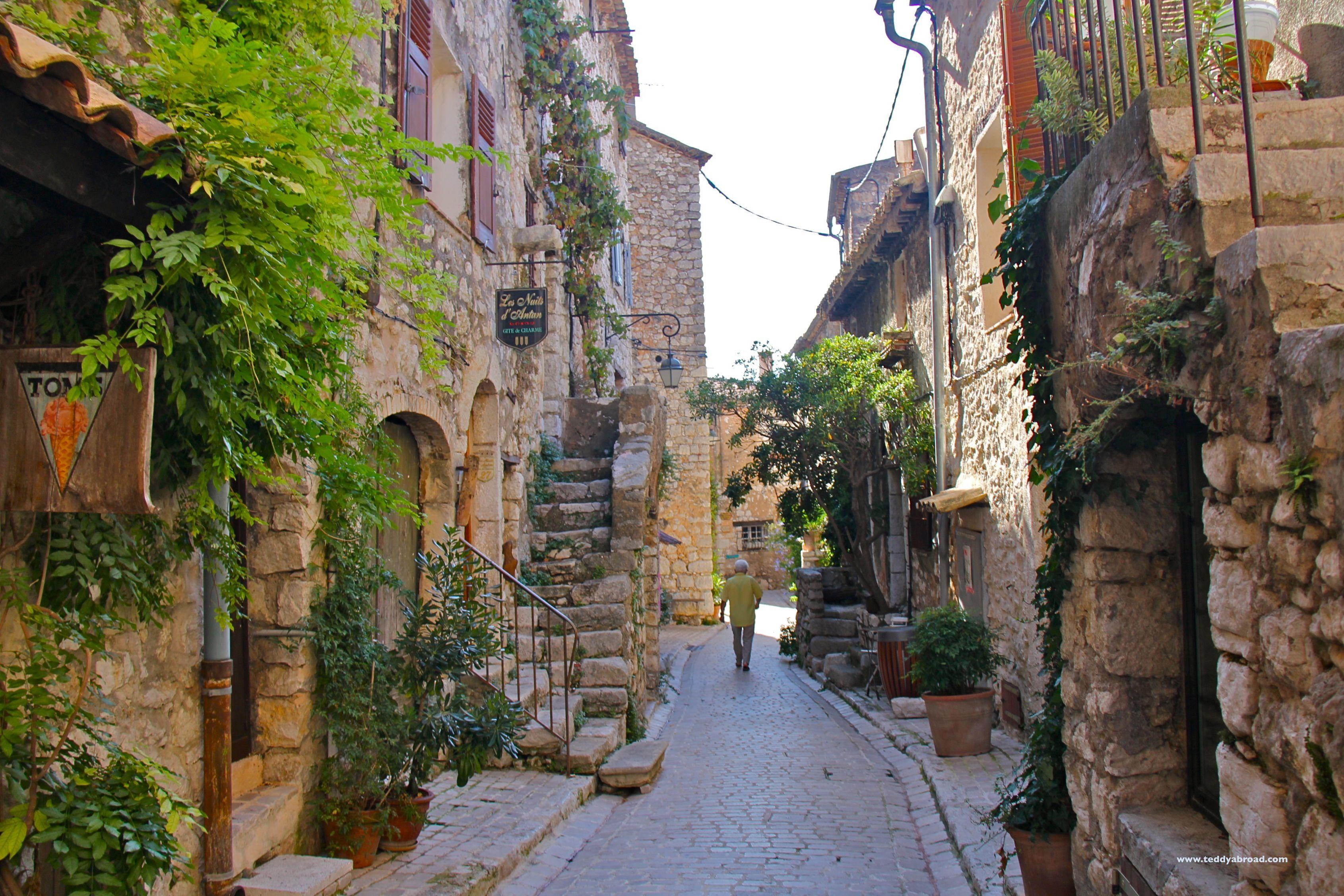 The quaint medieval village of Tourettes-sur-loup in ... Quaint Village