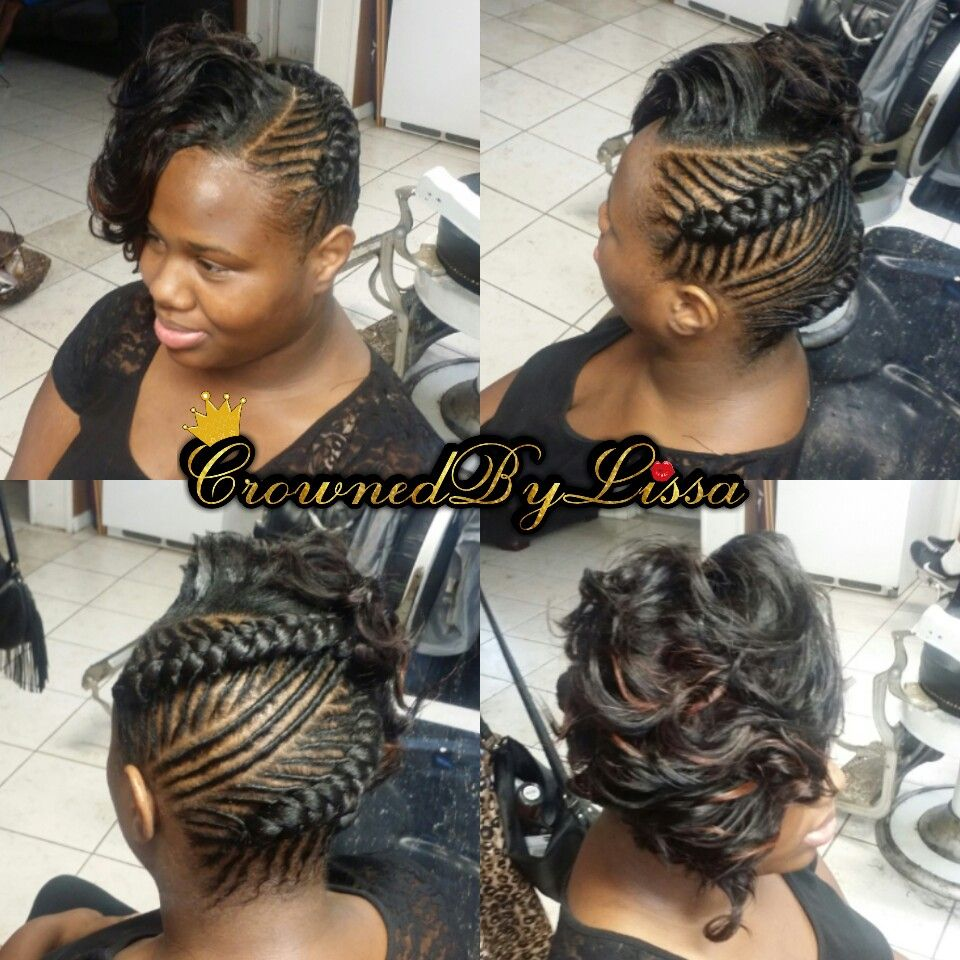 how to style ethnic hair flat twists into two goddess braids amp curled side 8382 | 6f66da965099c2fc1b747775b3903979