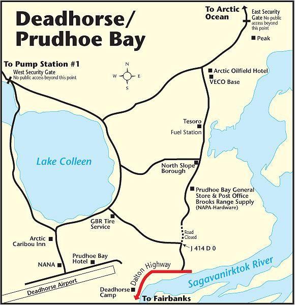 Prudhoe Bay Alaska Map.Deadhorse Alaska Map Work Travel Pinterest Alaska Prudhoe