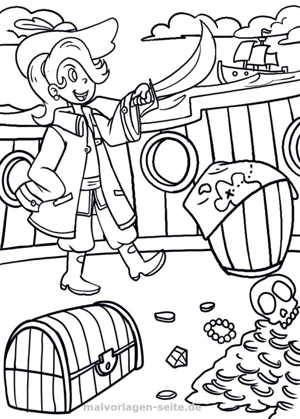 Malvorlage Pirat | Ausmalbilder piraten, Pirat und Ausmalbilder für ...